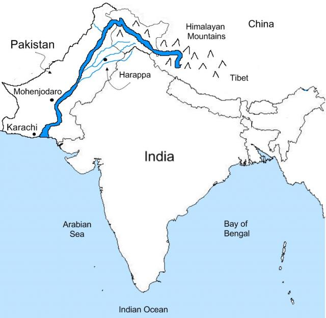 Figure 2: The beautiful Indus river flows through Asia.